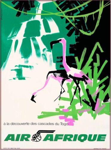 Air Afrique Birds Africa African Vintage Travel Art Poster Advertisement Print