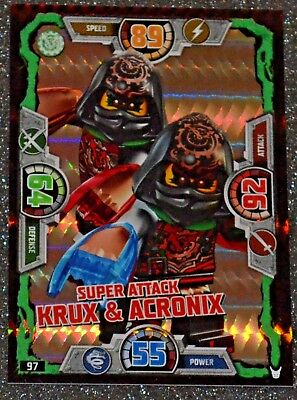 LEGO NINJAGO Trading Card Special 97 series 3 SUPER ATTACK KRUX & ACRONIX