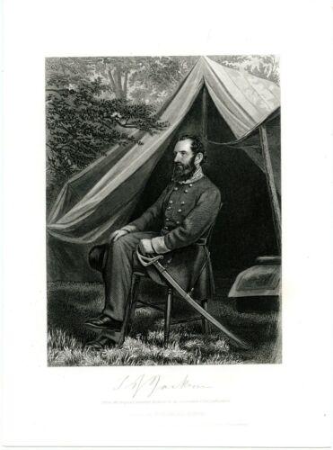 "THOMAS J JACKSON ""STONEWALL"", Confederate General/Civil War/KIA, Engraving 8712"