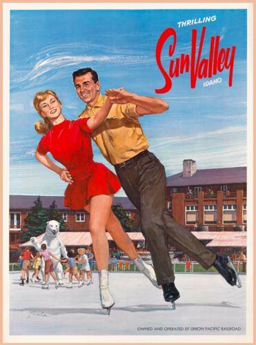 Thrilling Sun Valley Idaho United States Vintage Travel Advertisement Poster