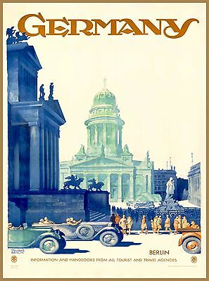 Germany Berlin Vintage German Vintage Travel Advertisement Art Poster Print