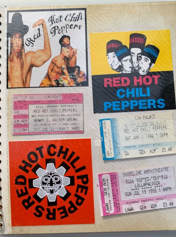 Red Hot Chili Peppers 18 different Vintage Rare Stickers from 1980s & early 90s