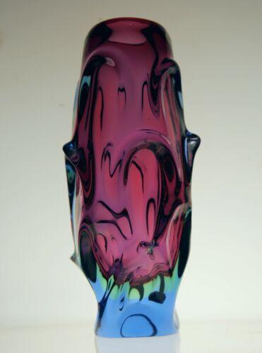 Skrdlovice Large Red Core Jan Beranek Vase