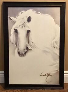 Beautiful Professionally Framed Sara Moon Horse Picture