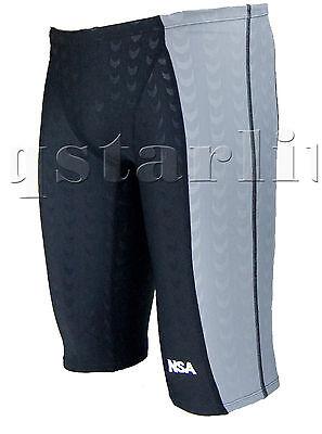 XL Men Male Training Racing Competition Swimwear Jammer Trunk  Splice Size 32