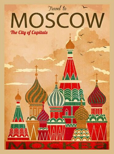 Travel to Moscow Russia St. Basil