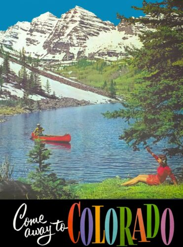Come Away to Colorado River United States Vintage Travel Advertisement Poster