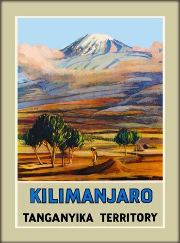 Kilimanjaro Tanganyika Territory Tanzania East Africa Travel Print