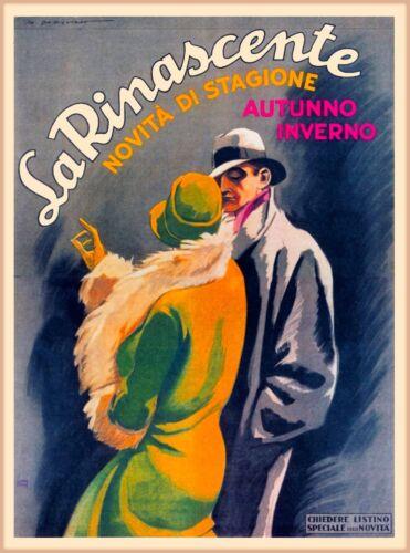 La Rinascente Milan Italy Italian Vintage Travel Advertisement Art Poster Print