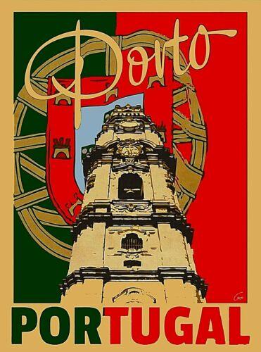 Porto Portugal Europe Vintage Travel Home Wall Decor Art Poster Print