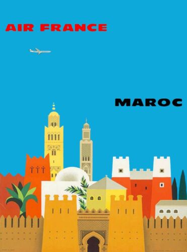 Maroc Morocco by Clipper Advertisement Art Print