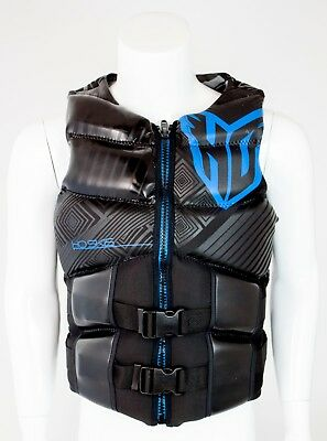 NEW $150 Mens HO High Performance Team Vest Water Ski Life Jacket Black Blue Black Mens Life Vest