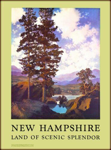 New Hampshire Scenic Splendor United States Vintage Travel Advertisement Print
