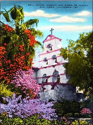 Bell Tower Mission San Diego California United States Travel Art Poster Print