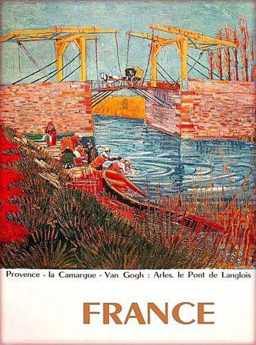 Provence France Van Gogh Europe Vintage Travel Poster Art Advertisement Print