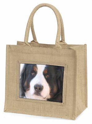 Bernese Mountain Dog Large Natural Jute Shopping Bag Christmas Gift , AD-BER5BLN