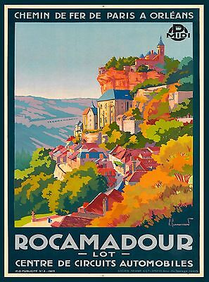 Rocamadour France French European Europe Vintage Travel Advertisement Art Poster