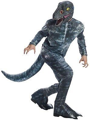 Rubies Jura-Welt Fallen Kingdom Velociraptor Blau Erwachsene - Velociraptor Kostüm Blau