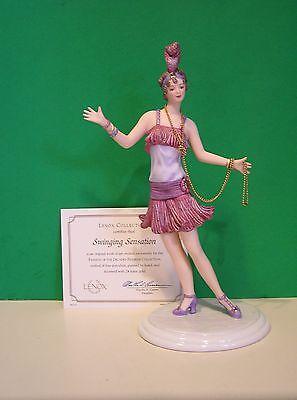 LENOX 1920'S FLAPPER SWINGING SENSATION Fashion Figurine NEW in BOX with COA
