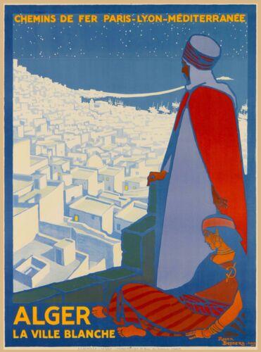 Alger Algeria Algerie Africa Vintage Travel Adventure Advertisement Poster Print