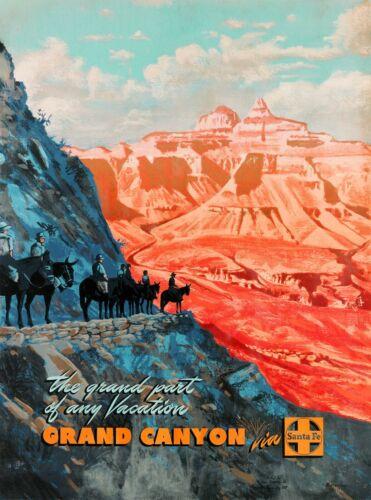 The Grand Canyon Grand Part Arizona Vintage United States Travel Art Poster