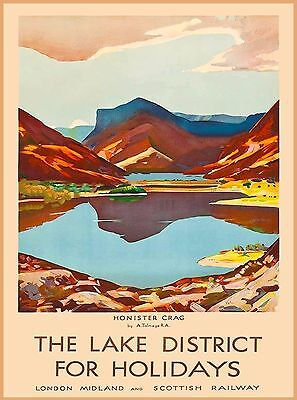 Honister Crag Lake District England Great Britain Travel Advertisement Poster