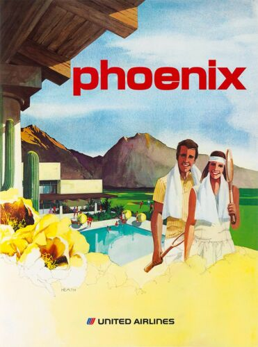 Arizona Phoenix Vintage United States Vintage Travel Advertisement Art Poster