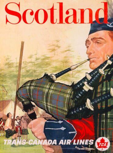 Scotland Scottish Trans-Canada Great Britain Travel Advertisement Art Poster
