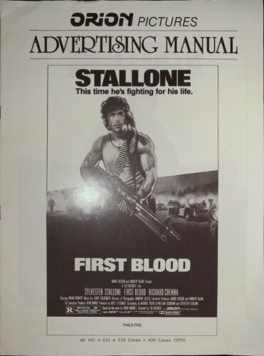 First Blood Pressbook 1982 Sylvester Stallone, Brian Dennehy