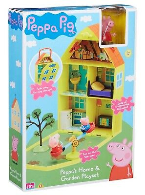 - Peppa Pig Home & Garden House Playset with Accessories Age 3+ TOY NEW
