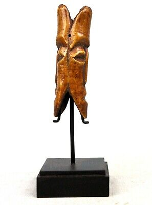 Art African - Pendant in OS Lega Double Face - Base on Gauges - 14 CMS