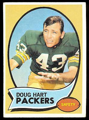1970 Topps Football  2 Doug Hart Rc Ex Cond Green Bay Packers Card Tex Arlington
