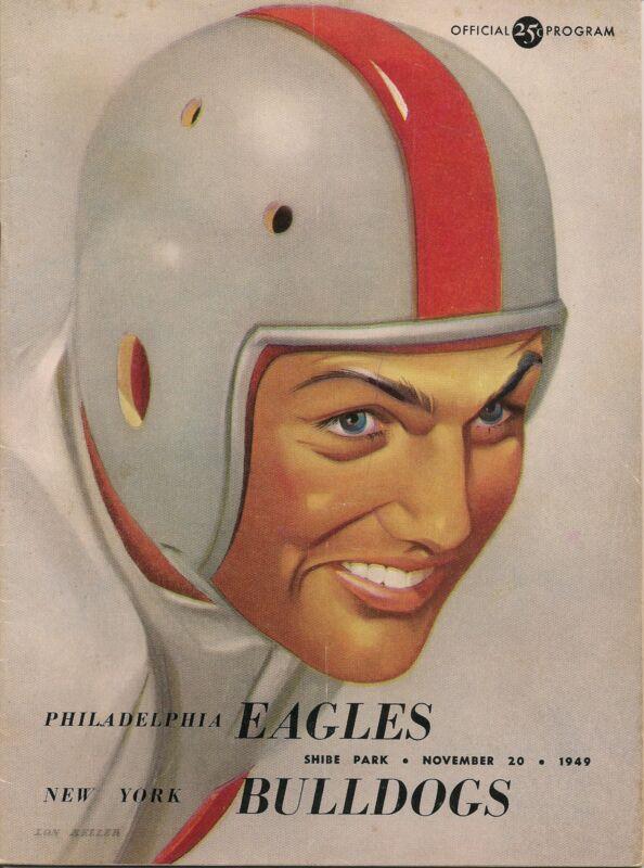 1949 Philadelphia Eagles-Bulldogs Program Eagles Rout Bulldogs NFL Champs GEM!!