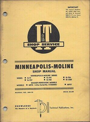 It Minneapolis Moline Shop Manual Gvi G705 G706 G707 G708 G1000