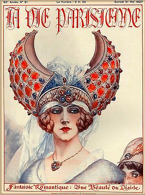 1927 La Vie Parisienne Fantaisie French France Travel Advertisement Poster