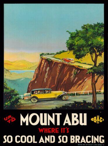 Mount Abu India Southeast Asia Vintage Travel Advertisement Art Poster Print