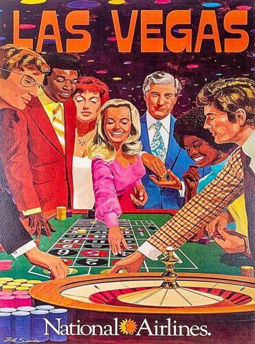 Las Vegas Nevada National Airlines United States Vintage Travel Art Poster Print