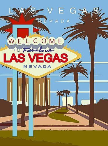 Las Vegas Nevada The Strip United States Retro Travel Art Poster Print