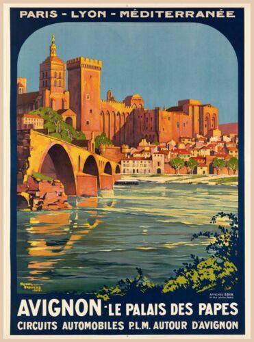 Avignon - Le Palais des Papes Paris France Vintage Travel Advertisement Poster