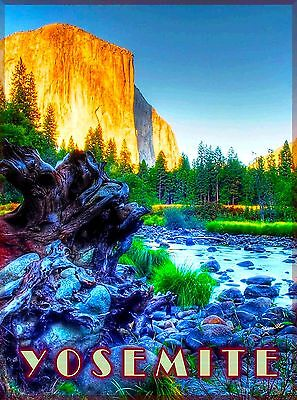Yosemite National Park Lake California United States Travel Art Poster Print