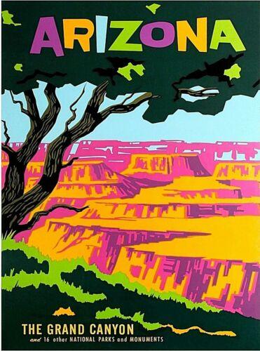 The Grand Canyon Arizona Vintage United States Travel Advertisement Art Print