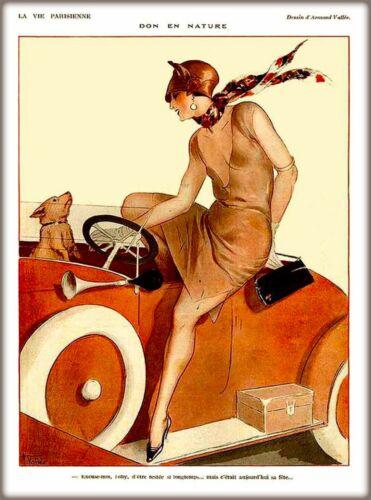 1920s La Vie Parisienne  Don en Nature Bull Terrier Dog France Travel Poster