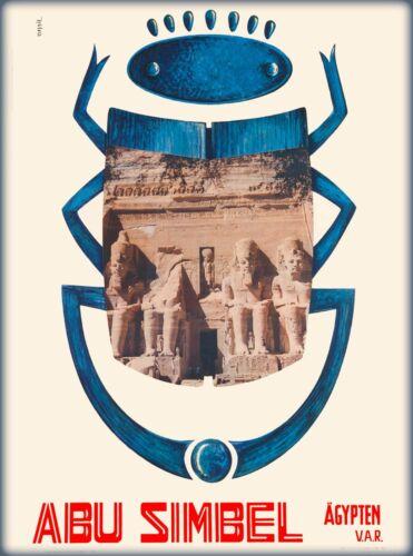 Abu Simbel Egypt Vintage Egyptian Travel Advertisement Art Poster