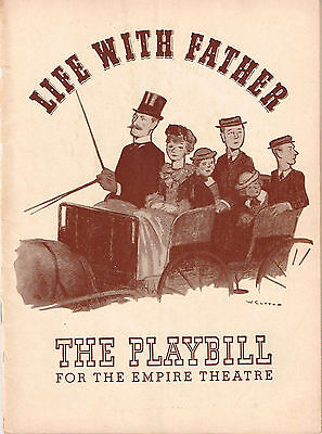 1941 Playbill Life With Father Dorothy Stickney Howard Lindsay