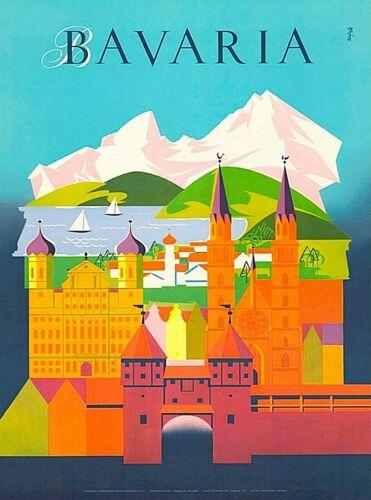 Bavaria Germany Vintage Travel Advertisement Art Poster Print