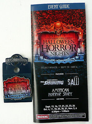 Halloween Night Events (2017 ANNUAL PASS HOLDER PIN UNIVERSAL HALLOWEEN HORROR NIGHT 1 2017 EVENT)