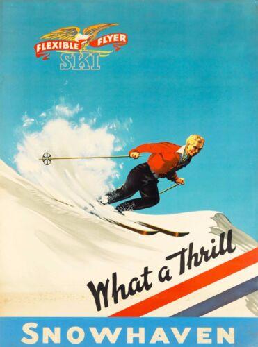 Snowhaven Idaho Ski United States America Vintage Travel Advertisement Poster