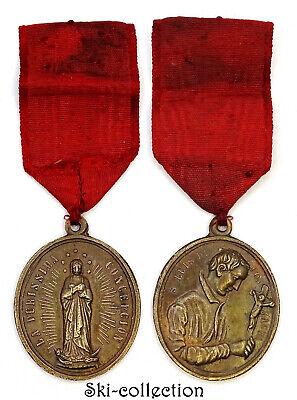 Medal Religious S. Luis de Gonzagua. La Purissima Concepcion. 19th° .Bronze