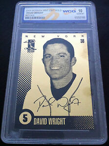 DAVID-WRIGHT-2004-LIMITED-EDITION-23-KT-GOLD-WCG-GEM-MT-10-ROOKIE-CARD-METS