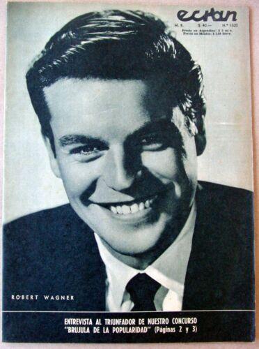 1956 ROBERT WAGNER Cover MAMIE VAN DOREN Backcover ECRAN Magazine CHILE